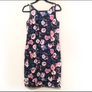 Rachel Roy Blue and Pink Floral Dress EUC